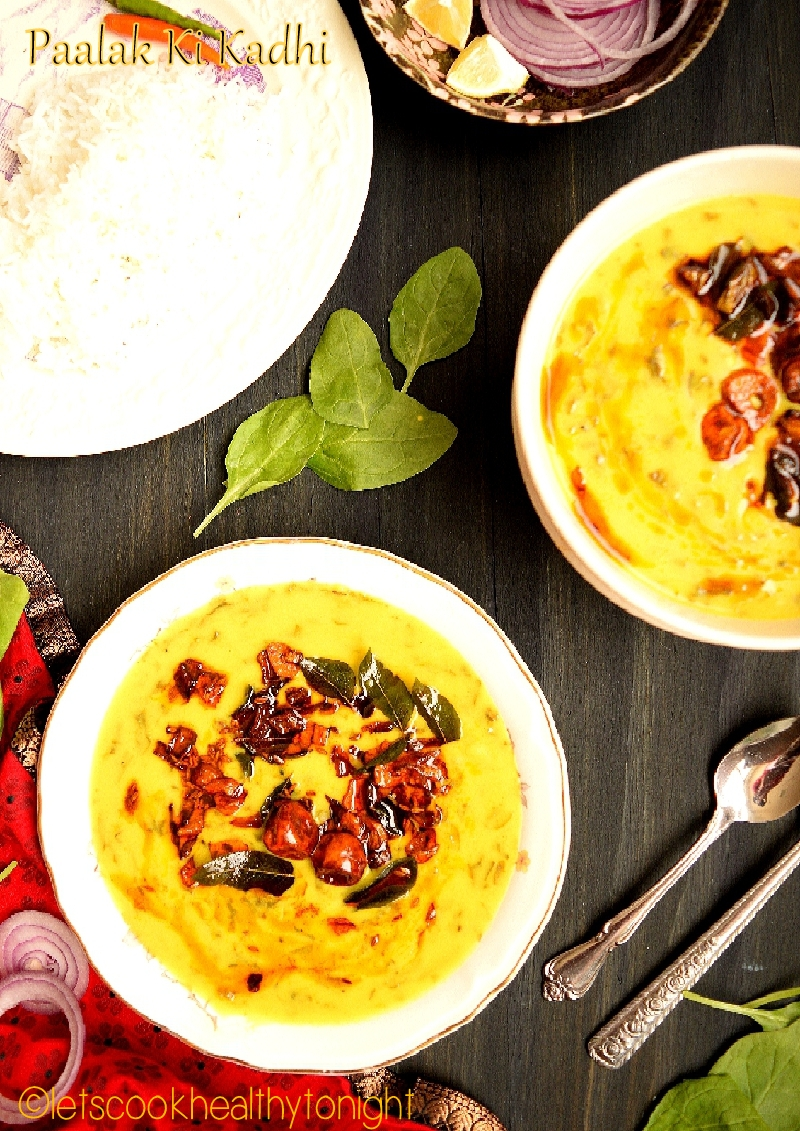 Paalak Ki Kadhi | Spinach in yogurt gram flour gravy