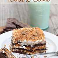 No-Bake Butterfinger Ice Box Cake