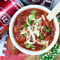 Dr Pepper Game Day Beef Chili