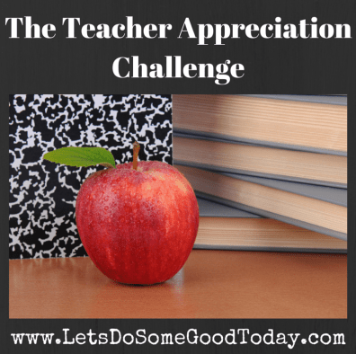 Teacher Appreciation Challenge