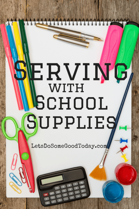 Serving with School Supplies