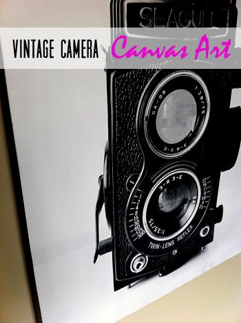 Vintage Camera Canvas Art {Free Printable} - Let\u0027s Get Crafty!