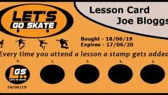 Lesson card for Joe Bloggs