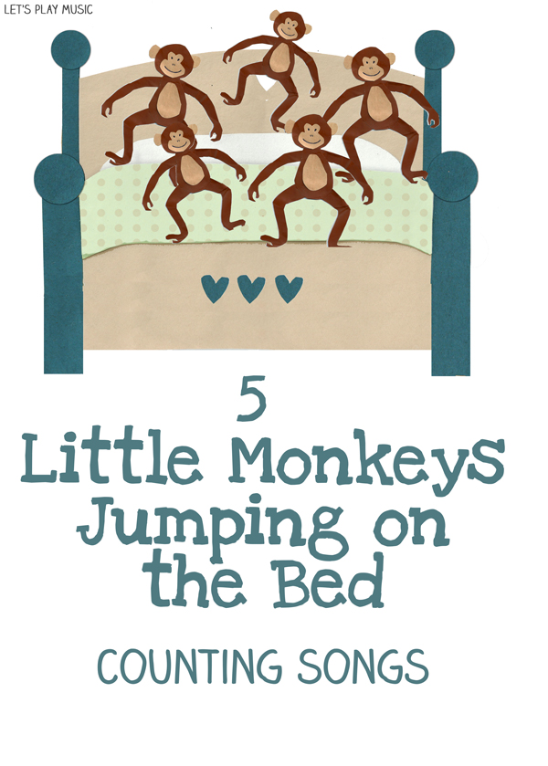 5 Little Monkeys Jumping On The Bed  Counting Songs