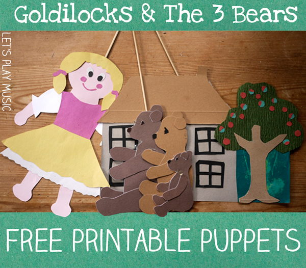 Storytelling Songs  Goldilocks and the Three Bears Puppet Show