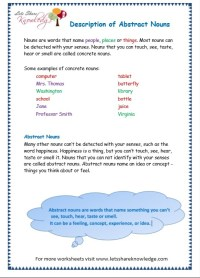 All Worksheets  Abstract And Concrete Nouns Worksheets ...