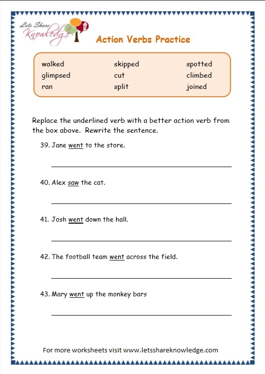 All Worksheets Subject Verb Agreement Practice Worksheets Free – Verb Practice Worksheets