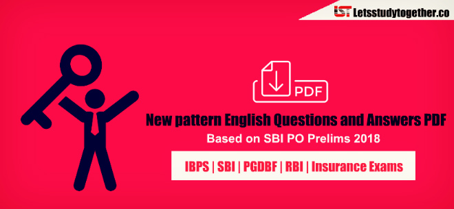 200+ New pattern English Questions and Answers PDF - Based on SBI PO