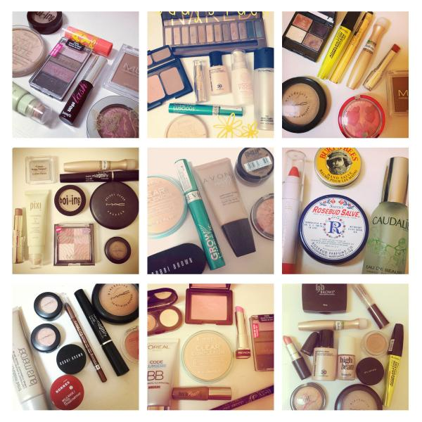 Grid of Makeup