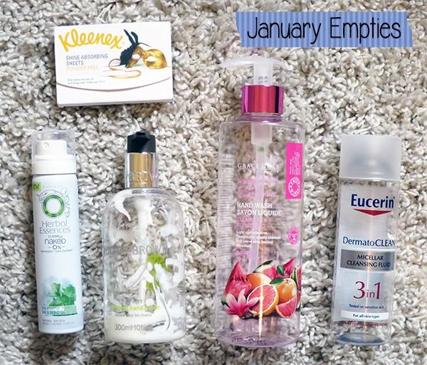 January 2015 Empties