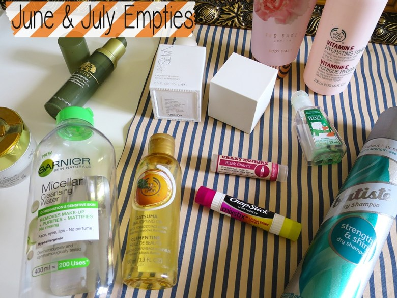 June & July Empties 2015