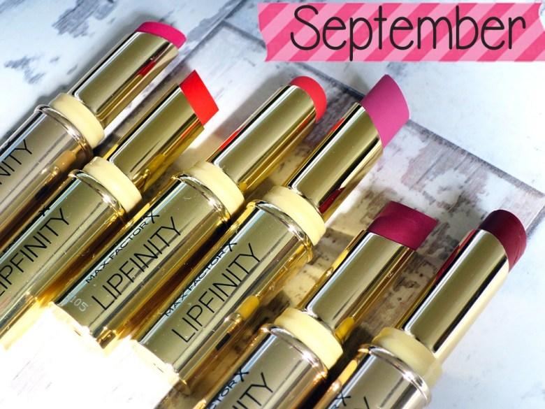 Max Factor Lipfinity Lipsticks