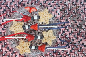 America: Happy Fourth of July with Rice Krispy Stars