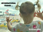 International travel with toddlers
