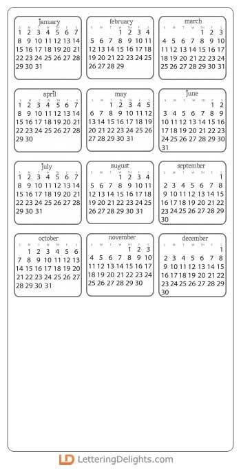 Simple Calendars 2012 - GS