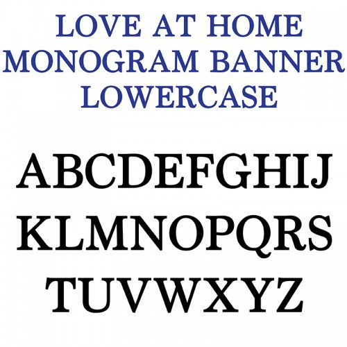 pn love at home monogram banner