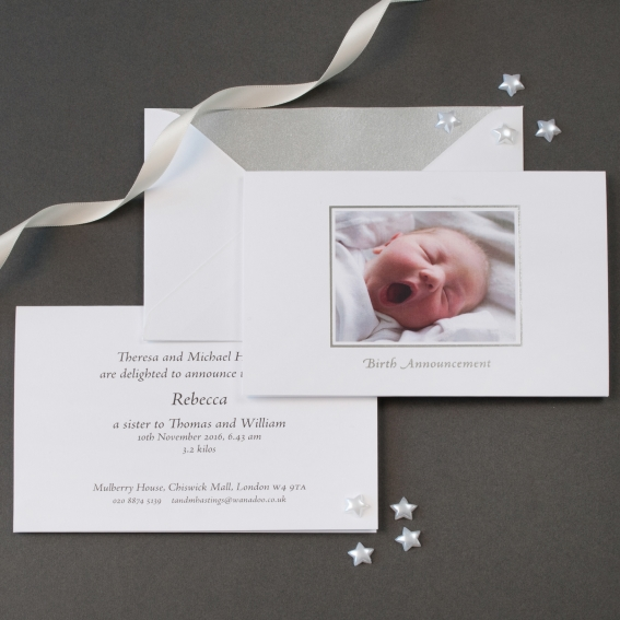 Luxury Birth Announcements Cards The Letter Press