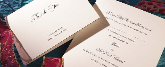 Luxury Personalised Wedding Invitations In Uk The Letter