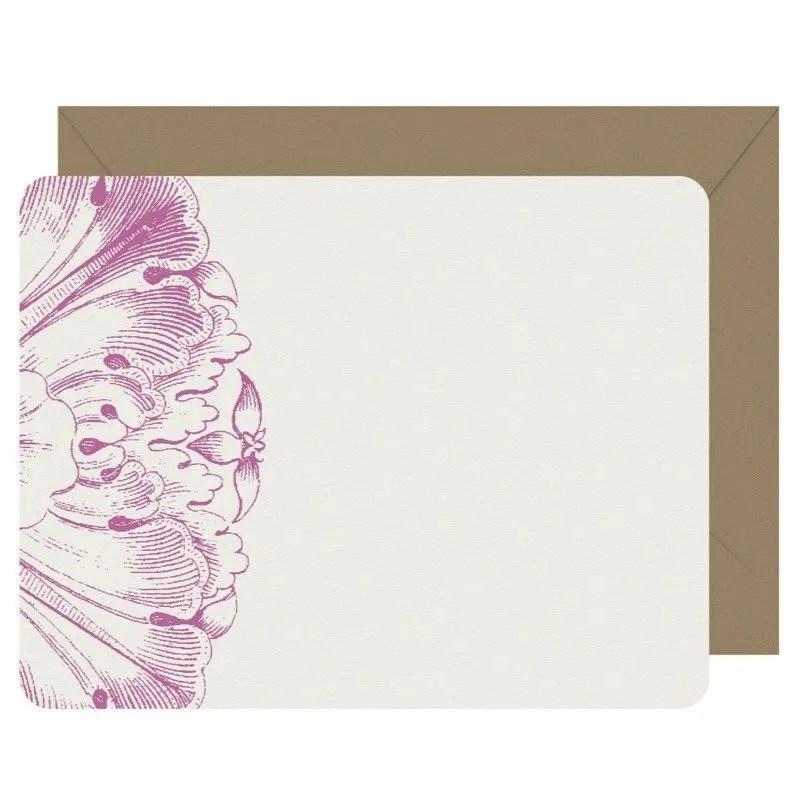 Sorrento Set of 8 Flat Letterpress Note Cards Letterpress Jess