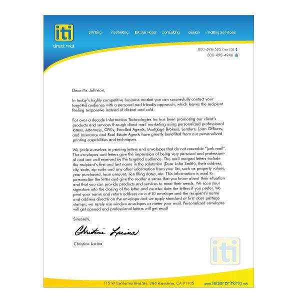 Letterhead Design Business - iti Direct Mail