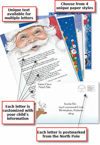 Letters by Santa Personalized Letters from Santa Clause