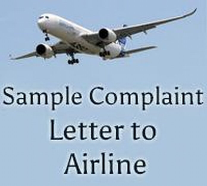 Sample Complaint Letter to Airline - Free Letters