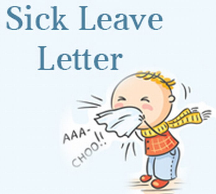 Sample Sick Leave Letter - Free Letters - sick leave letter for work