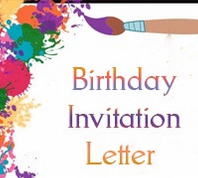 Birthday Invitation Letter, Sample Party Invitation Letter - birthday invitation letter sample