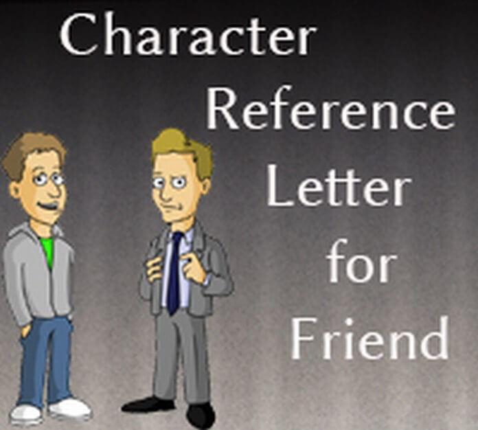reference letter for a friend for a job