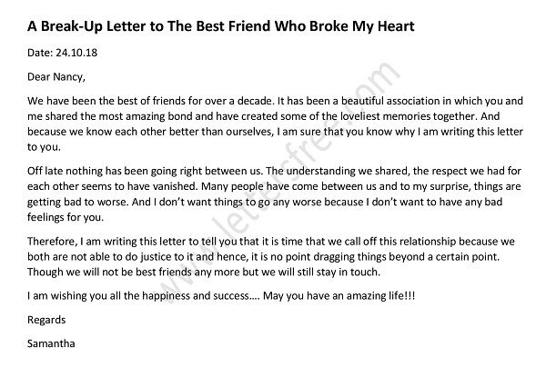 breakup letters Archives - Free Letters