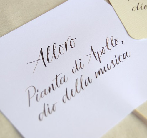 Segnatavolo matrimonio personalizzato - Letters Love Life