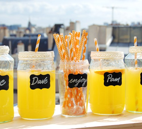 Etichette lavagna: decorate dei barattoli di vetro per una festa/cena - Letters Love Life