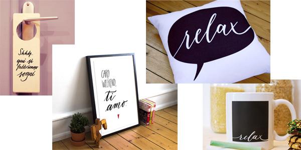 Giveaway #tuttii25 - Novembre - Doorhanger, poster per casa, cuscino relax, tazza lavagna