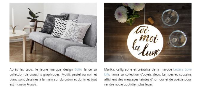 Letters Love Life nell'articolo del blog di arredamento Joli Place - Francia