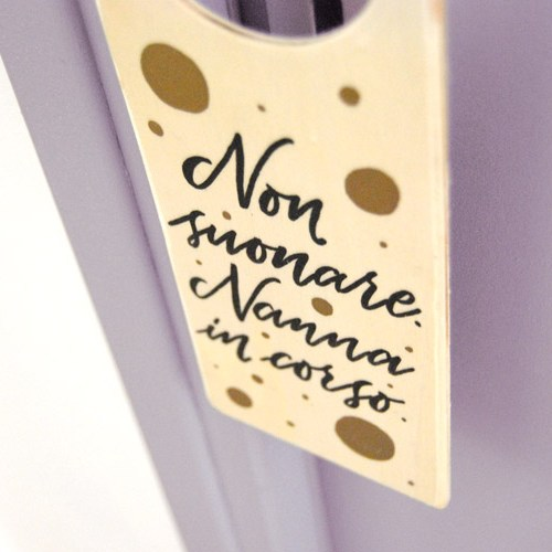 Regali per neonati e genitori: targhetta per porta in legno per la camera dei bimbi