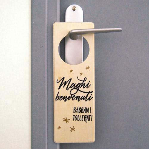 Targhetta per porta in legno per chi ama la saga di Harry Potter