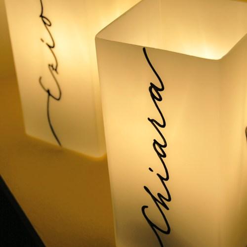 Lampade con nome | Idea regalo originale per una coppia o per i regali di San Valentino | Calligrafia: Marika Salerno