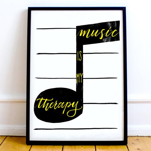 Décoration intérieur: une affiche sur le thème de la musique pour décorer la maison avec vos passions | Letters Love Life