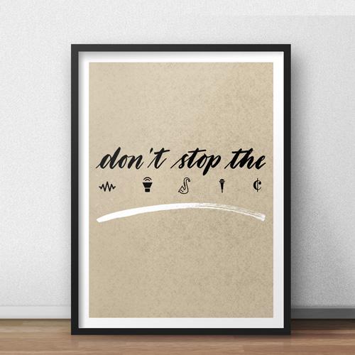 Idee per arredare casa, idee regalo per chi ama la musica, suonare, ballare | Poster LettersLoveLife