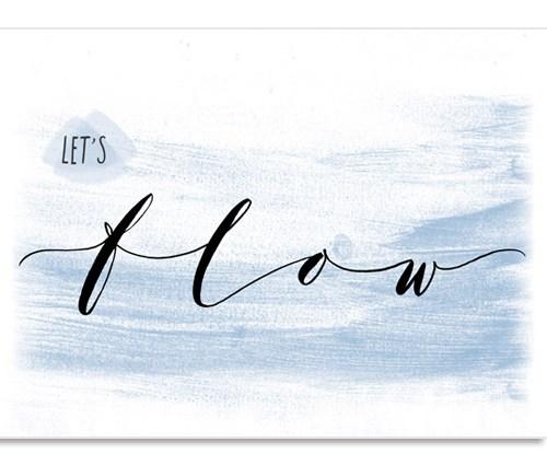 """Idee regalo compleanno per chi fa yoga o per un insegnante di yoga: poster murali """"Let's flow"""" Letters Love Life"""