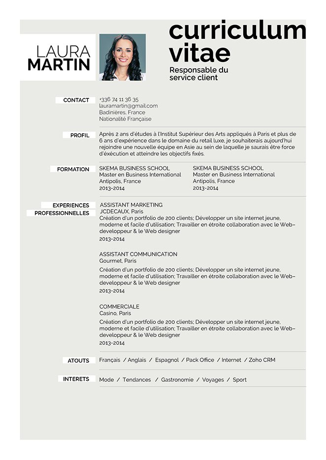 comment faire un blog cv