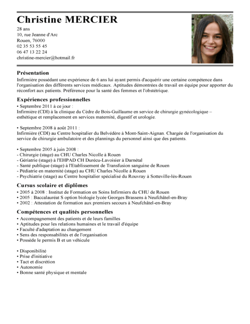 faire un cv pharmacien