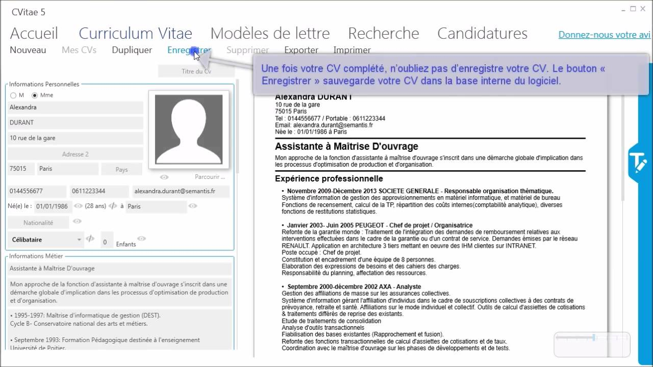 comment faire un cv simple lyceen