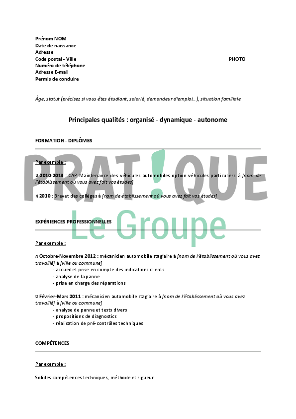 comment faire son cv sur libre office