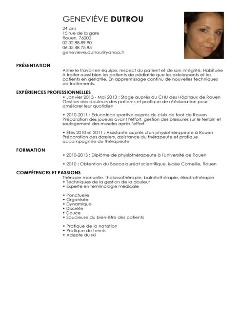 forum comment faire son cv