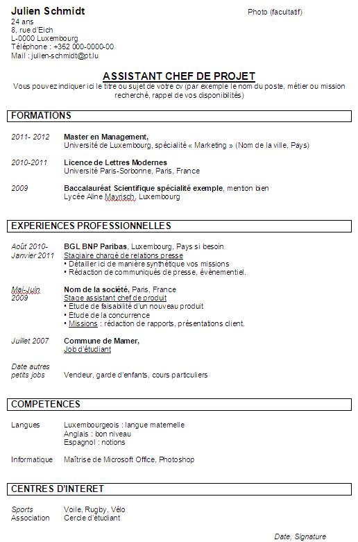 faire un cv qui sort du lot
