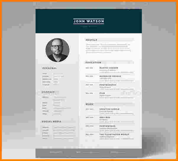 creer un cv sur adobe illustrator ou indesign