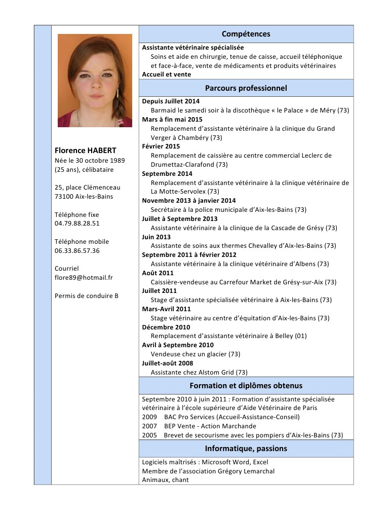 methodologie cv