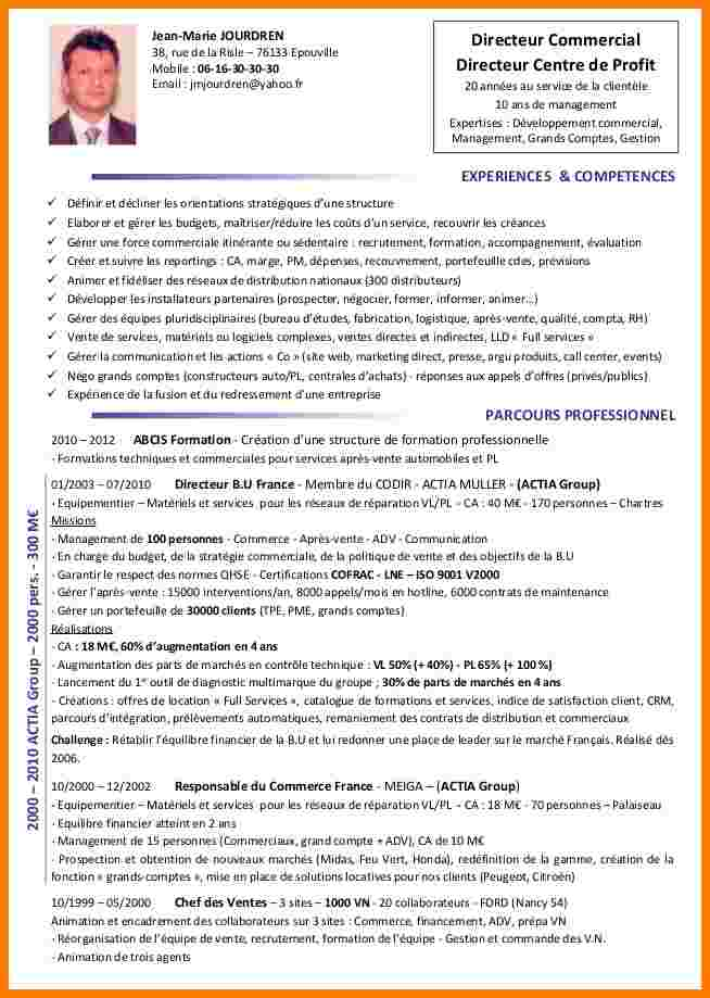 exemple de cv charge financier