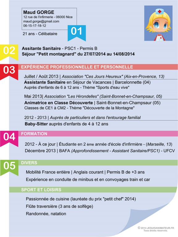 titre cv stage pratique